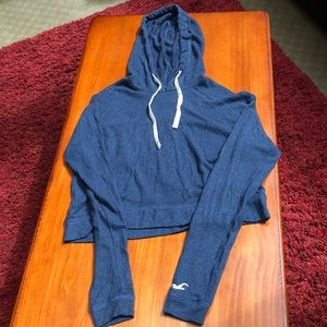 Hollister comfy blue cropped sweater